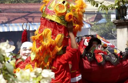 KOH SAMUI, THAILAND  - JAN 16:  Chinese New Year Celebration - Parade on the islands main street. January, 16, 2010 in Koh Samui, Thailand
