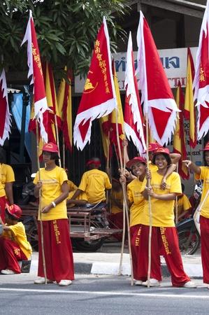 KOH SAMUI, THAILAND  - JAN 16:  Chinese New Year Celebration - Parade on the island's main street. January, 16, 2010 in Koh Samui, Thailand Stock Photo - 8722600
