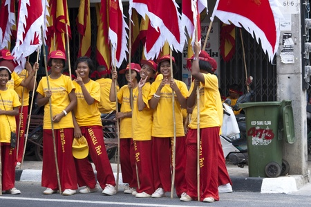 KOH SAMUI, THAILAND  - JAN 16:  Chinese New Year Celebration - Parade on the island's main street. January, 16, 2010 in Koh Samui, Thailand Stock Photo - 8722599