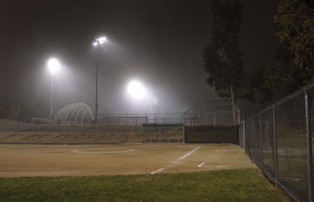 Night Fog in a Sport Park photo