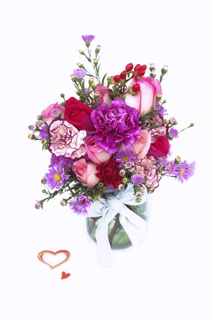 cut flowers: Valentine Fresh Flower Bouquet in a Glass Jar
