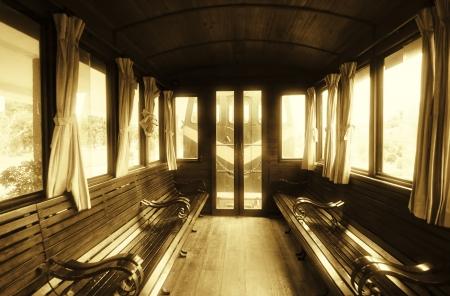 Vintage Train Salon Inside Stock Photo
