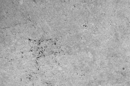 Exterior cracked polished cement floor which has black fungus in small gap Banque d'images