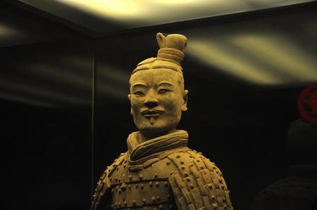 In December 2012, close up terra cotta warrior of Qin dynasty in Xian, Shaanxi province, China Éditoriale