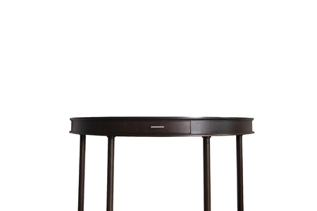 Teak wood table isolated on white background