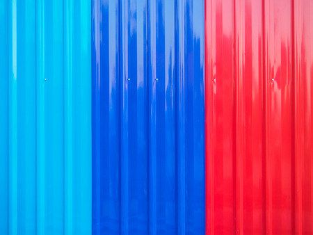Texture of colorful zinc sheets