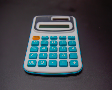 selection focused at the calculator on the black background