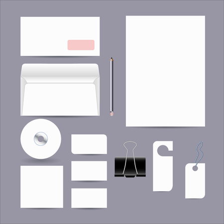 ides: Blank corporate objects for business style. Set of modern  design elements of your design work.