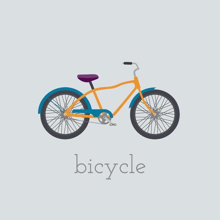 circuit brake: bicycle  illustration.  bicycle isolated on white background.