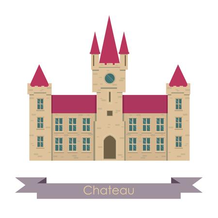 chateau: chateau illustration.