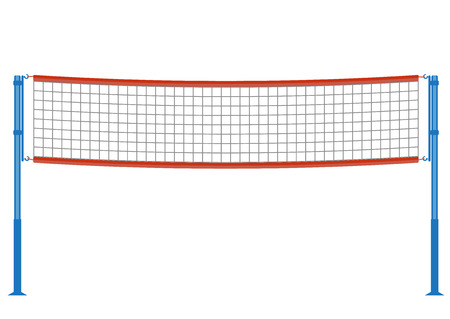 volleyball net illustration.