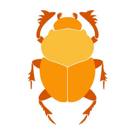 horus: Egypt scarab beetle illustration.