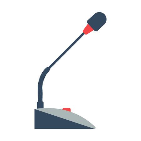 ilustración vectorial micrófono de mesa aislada en un fondo blanco. icono de micrófono de mesa. Tabla equipo de música micrófono. conferencia de micrófono de mesa Ilustración de vector