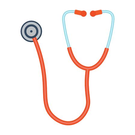 Phonendoscope vector illustration. Phonendoscope on white background. Stethoscope vector. Stethoscope isolated. Illustration