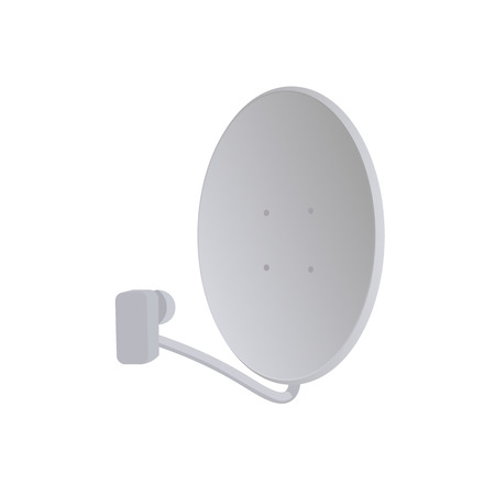 parabolic mirror: Receiver. Satelite dish. Satelite vector illustration. Satelite dish white background. Satelite dish vector. Satelite dish isolated vector.
