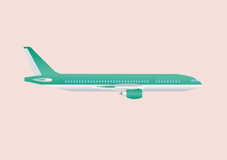civil: Civil aviation travel passenger air plane vector illustration. Civil commercial airplane.Airplane isolated on background. Cargo transportation airplane vector isolated