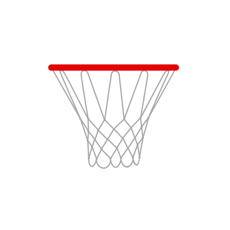 rims: A vector illustration of a basketball rims.  Basketball hoop vector isolated.