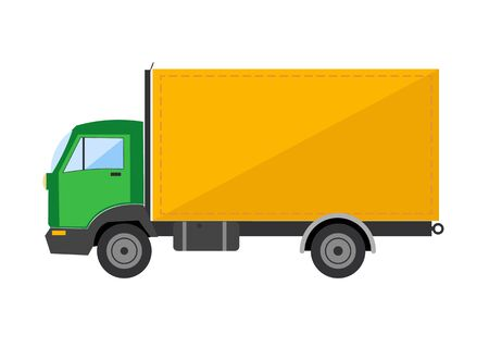 autotruck: Autotruck vector Tipping lorry  Tripper truck vector icon isolated Illustration