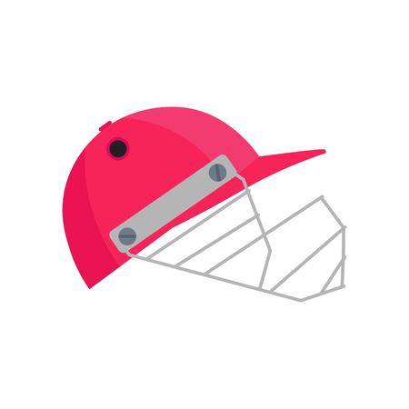 cricket helmet: Cricket helmet illustration. Cricket helmet on white background. Cricket helmet vector. Helmet illustration. Cricket helmet vector