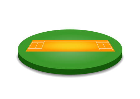 pitch: Cricket pitch illustration. Cricket pitch on white background. Cricket pitch vector. Pitch illustration. Cricket pitch vector
