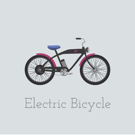 original bike: Vector electric bicycle illustration. Electric bicycle isolated on white background. Bike vector. Electric-bicycle moto bike illustration. Bike vector Illustration