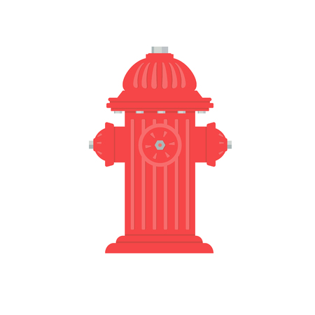 screen print: Flat style hydrant  a white background. Fire Hydrant is a four color illustration that can be easily edited or separated for print or screen print.