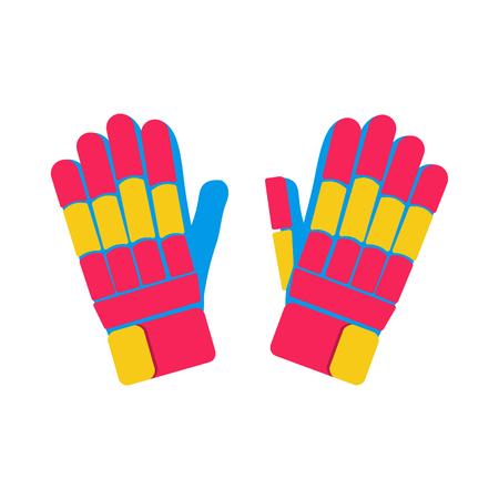 batting: Gloves cricket illustration. Gloves for cricket on white background. Gloves vector. Pitch illustration. Batting Gloves isolated vector.