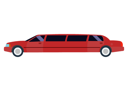 limousine: Limousine illustration. limousine on white background. Red limousine vector. limousine illustration.  Limousine isolated vector