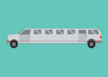 limousine: Limousine illustration. limousine on white background. Gray limousine vector. limousine illustration.  Limousine isolated vector Illustration