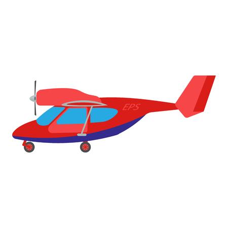 light aircraft: Light aircraft vector illustration. Red Light aircraft on white background. Light aircraft vector. Aircraft illustration. Light aircraft isolated vector Illustration