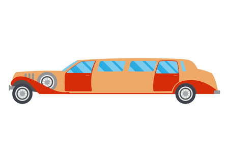 limousine: Retro limousine illustration. limousine on white background. Vintage limousine vector. limousine illustration. Retro limousine isolated vector