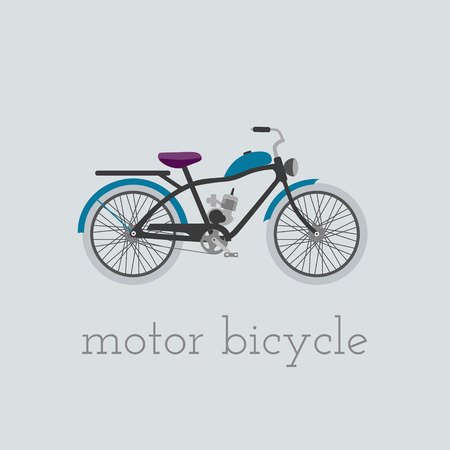 circuit brake: Vector motor bicycle illustration. motor bicycle isolated on white background. Bike vector. motor bicycle moto bike illustration. Bike isolated vector Illustration