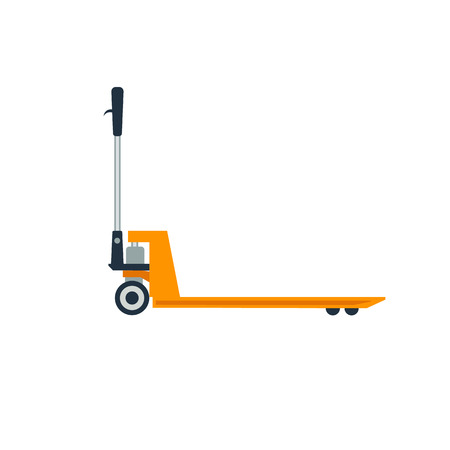 lifting jack: Pallet truck vector illustration. Pallet truck isolated on white background.