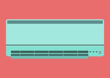 condenser: Air conditioner vector illustration Air conditioner on white background Illustration