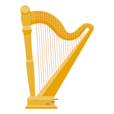 lyra: Harp illustration. harp isolated on white background