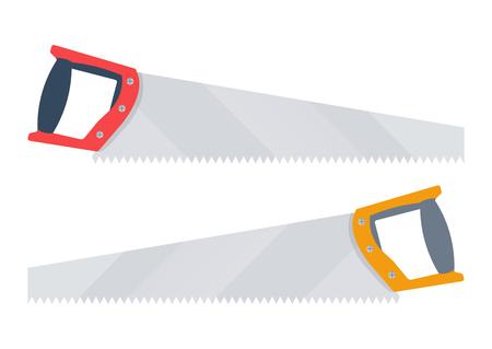 serrucho: ilustración serrucho. sierra de mano aisladas sobre fondo blanco