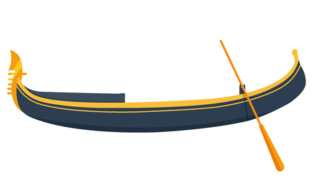 venice gondola: Venice gondola vector illustration. gondola isolated on a white background