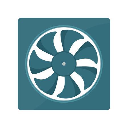 coolant temperature: Radiator fan vector illustration. fan radiator isolated on white background