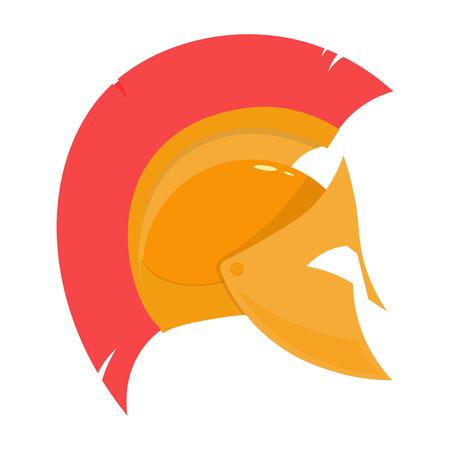 hoplite: Spartan helmet lvector illustration isolated on white background Illustration