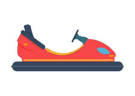 recreational pursuit: bumper car vector illustration isolated on white background
