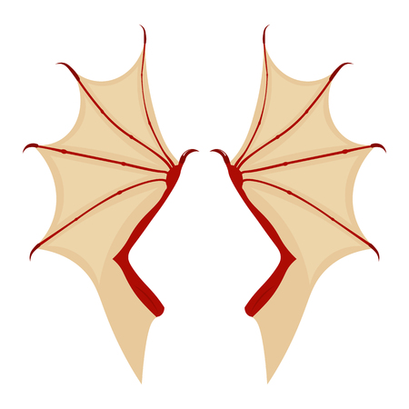 dragon wing vector illustration isolated on white background