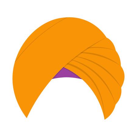 turban: Turban headdress vector illustration isolated on a white background