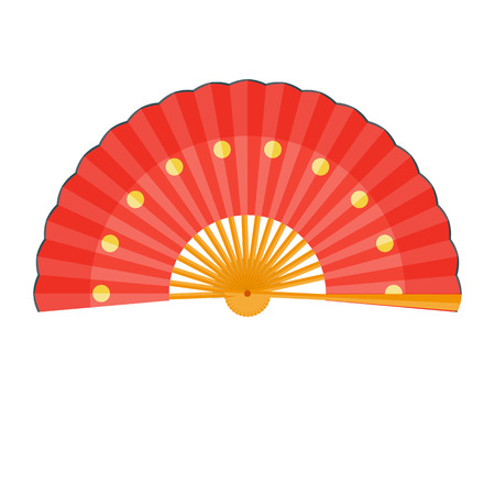 chinese fan: Chinese fan vector illustration. Folding fan isolated on a white background Illustration