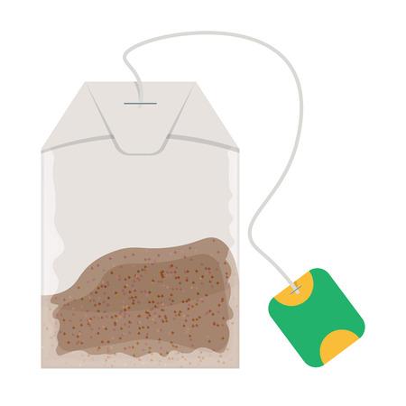 Teabag illustration isolated on white background Illustration