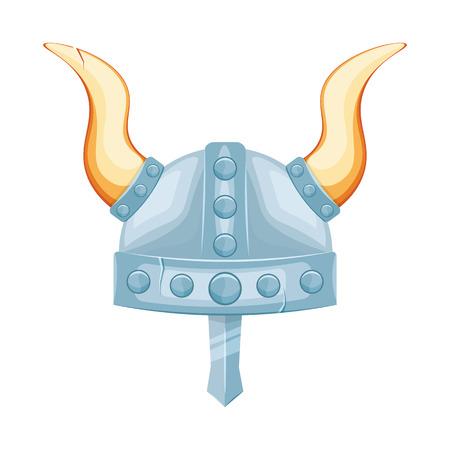 Wikingerhelm Illustration auf einem weißen Hintergrund Vektorgrafik