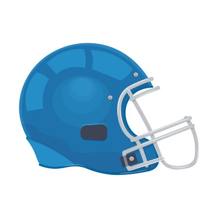 canadian football: American football helmet vector illustration isolated on  white background