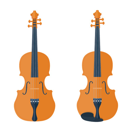 concerto: Violin vector illustration isolated on white background