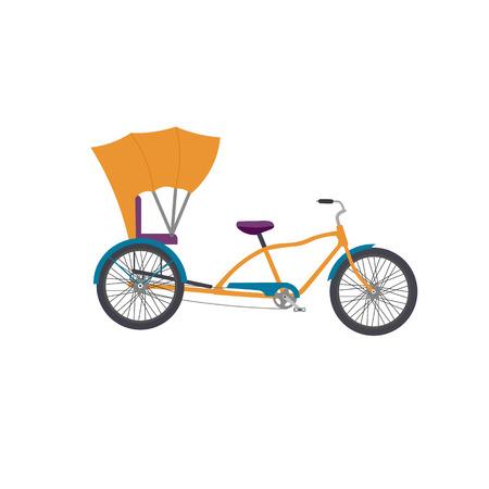 rikscha: Rickshaw illlustration. Rikscha-Vektor-Symbol isoliert. Auto-Rikscha Tuk Tuk Dreirad Dreirad.