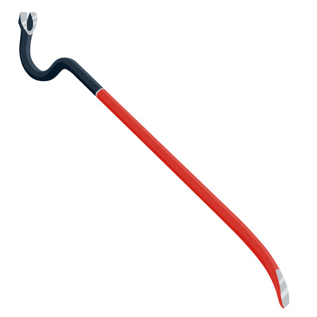 crowbar vector illustration isolated on a white background