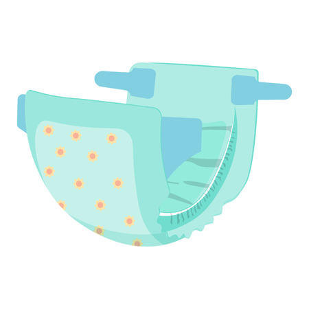 nappy: Diaper nappy vector illustration isolated on a white background Illustration